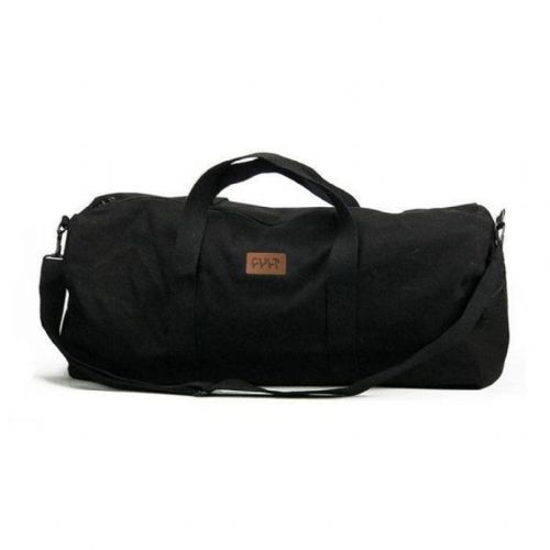 Cult Leather Patch Duffle Bag - Black